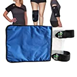 Life and Limb Gel Medium Wrap - Hot and Cold Therapy Packs for Injuries - Reusable Ice Pack Compress with Adjustable Straps - Shoulder, Knee, Elbow, Neck & Back Pain Relief - Muscle Strain Support