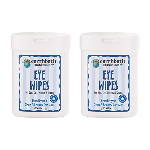 Earthbath All Natural Specialty Eye Wipes, 25 Wipes (Pack of 2)