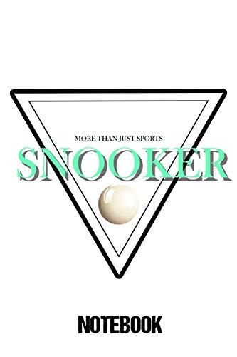 Notebook Snooker: Notizbuch als Weihnachtsgeschenk für einen echten Snooker Spieler / DIN A5 - 6x9 Zoll 120 Seiten / Journal für Snooker Fan