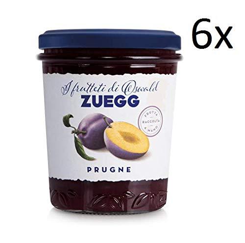 6x Zuegg Prugne Marmelade Backpflaumen Konfitüre Brotaufstriche Italien 320 g