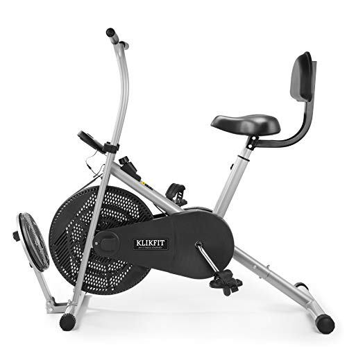 Klikfit KF04F Indoor Stationary Air Bike Exercise Cycle for Home Gym Cardio Full Body Weight Loss...