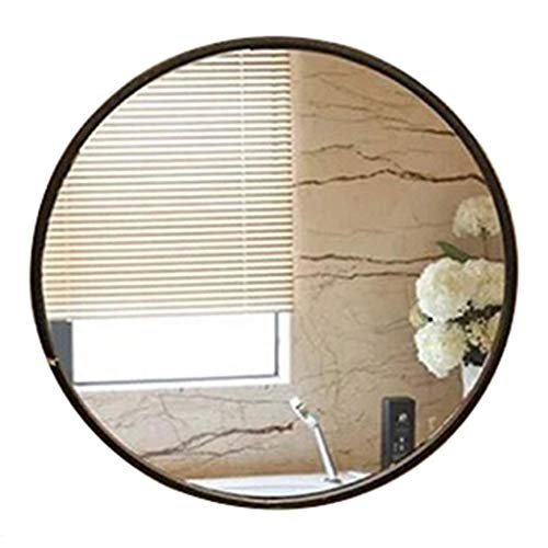Make-up spiegel make-up spiegel make-up spiegel ovaal wandspiegel met schuine rand en zilveren glazen wastafel voor de badkamer 60cm zwart