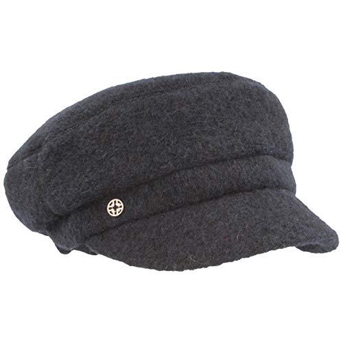 LOEVENICH Elbseegler | Baker-Boy-Mütze | Mütze aus Wolle – Luxury LINE mit weichem Fleece-Futter & ca. 4 cm Schirm
