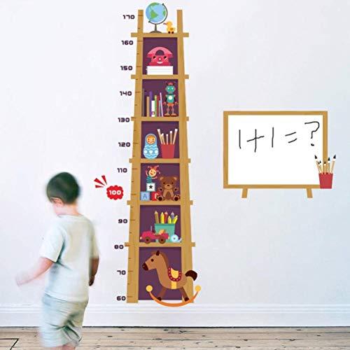 kldfig Cartoon boek plank hoogte meten muur Sticker voor kinderen kamer groeikaart kinderen DIY muurschildering kwekerij huis stickers Wallpaper-60 * 90cm