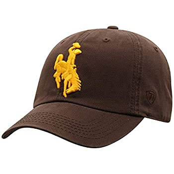 Top of the World Wyoming Cowboys Men s Relaxed Fit Adjustable Hat Team Color Primary Icon Adjustable