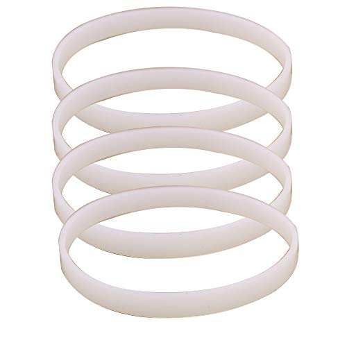 Anbige 4PCS White Rubber Sealing O-Ring Gasket Replacement Parts for Ninja Juicer Blender Replacement Seals (4 3.93inch gaskets)