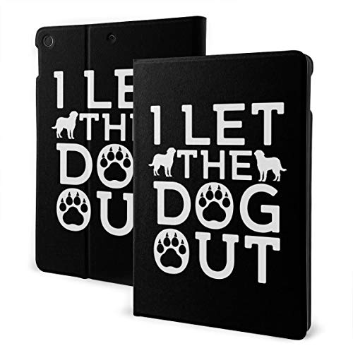 I Let The Dogs Out iPad 7th Generation Case iPad 10.2'' Cute Shell Smart Cover Auto Wake/Sleep