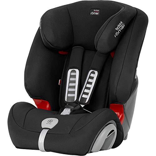 Britax Römer Kindersitz 9 Monate - 12 Jahre I 9 - 36 kg I EVOLVA 123 PLUS Autositz Gruppe 1/2/3 I Cosmos Black