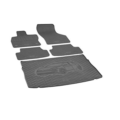 Kofferraumwanne und Gummimatten RIGUM Passgenau für VW Golf VII ab 2012 Perfekt angepasst + EXTRA SCHUTZBEZUG