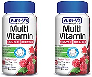 Yum-V's Complete Multivitamin and Multimineral for Adults Jellies, Raspberry, 2x60 Count