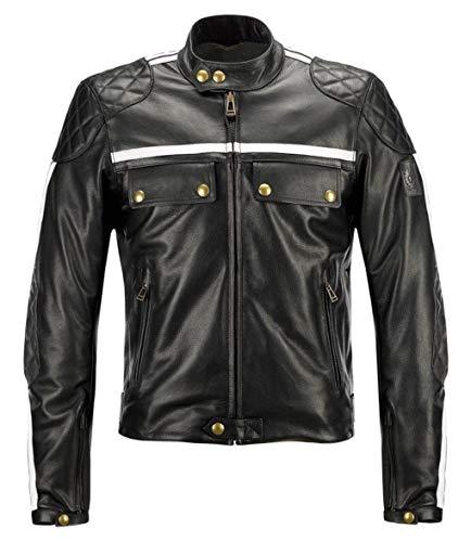 Giacca Giubbotto Uomo Donington Moto Belstaff Colore Nero in Vitello, XXL