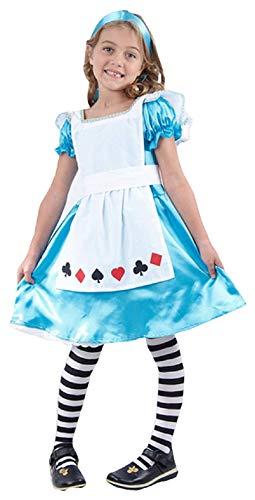 Filles Alice au Pays des Merveilles Conte de Fée Livre Jour Halloween Déguisement Costume Tenue 3-12 Ans (7-9 Ans)