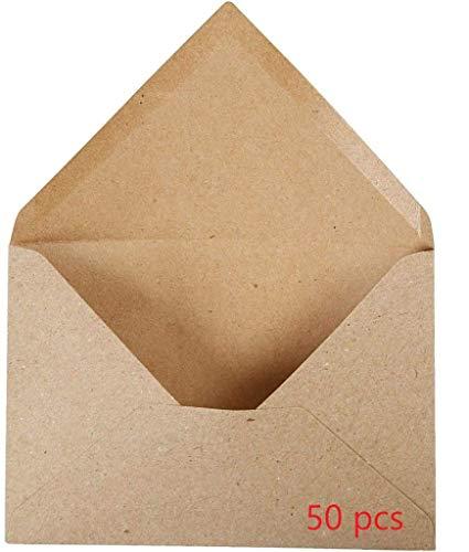 50 enveloppes Kraft côtelées Marron – C6 162 x 114 mm