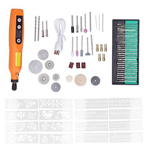 Micro grabador eléctrico pluma herramienta de grabado eléctrico para uñas 82 piezas para cuero para vidrio para plástico para metal