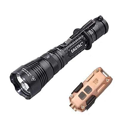 Combo: EAGTAC G3L Type-C Rechargeable Lampe de poche tactique - CREE XHP70.2 LED - 3200 lumens avec pointe en cuivre rechargeable USB - 360 lumens
