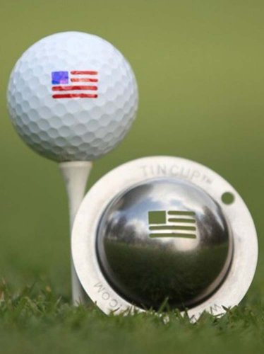 Tin Cup Stars and Stripes Golf Ball Custom Marker Alignment Tool