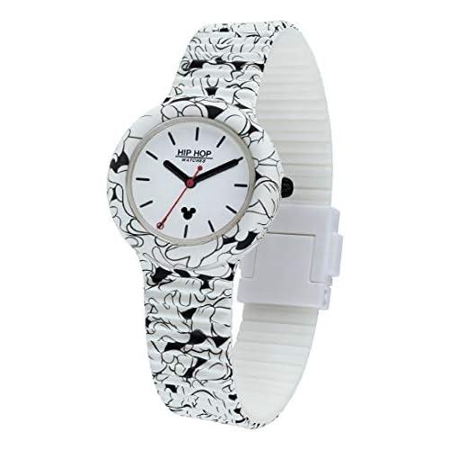 Hip Hop Watches - Orologio Unisex Hip Hop Edizione Speciale Anniversario Topolino - Collezione Mickey Retro - Cinturino in Silicone - Cassa 35mm - Impermeabile - About Mickey