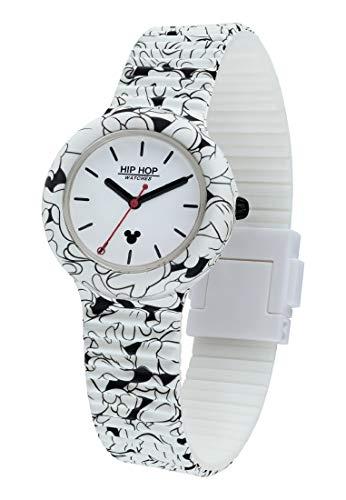 Hip Hop Watches - Unisex Uhr Hip Hop Special Edition Jubiläum Sonderedition Disney Micky Maus - Kollektion Micky Retro - Silikonarmband - Gehäuse 35mm - Wasserdicht - Quarzwer