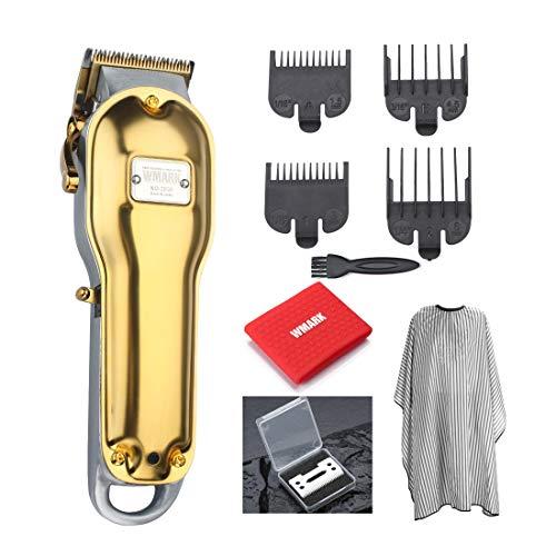 WMARK All-metal hair clipper NG-2020 Electric Hair trimmer 2500mAh cordless hair cutter golden color