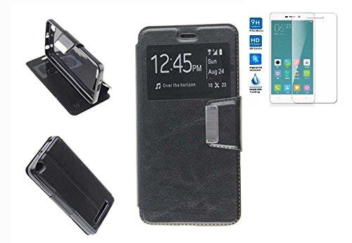 Todobarato24h Funda Libro Ventana Negra Compatible con Xiaomi Redmi 4a (5) +...