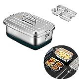 Lunch box,Fiambrera,304 fiambrera acero inoxidable,2000 ml...