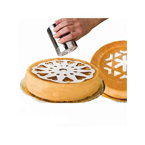 IBILI 719900 Lot de 10 Pochoirs pour Gâteaux, Plastique, Blanc, 24,5 x 23,5 x 5 cm