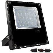 ALOTOA 100W LED Scheinwerfer,LED Flutlicht ersetzt 500W Halogenlampe, IP65 wasserdicht, 10000lm 120° LED Außenleuchten, LED Flutlichtstrahler Strahler Scheinwerfer(Warmweiß 3000K, 100W)