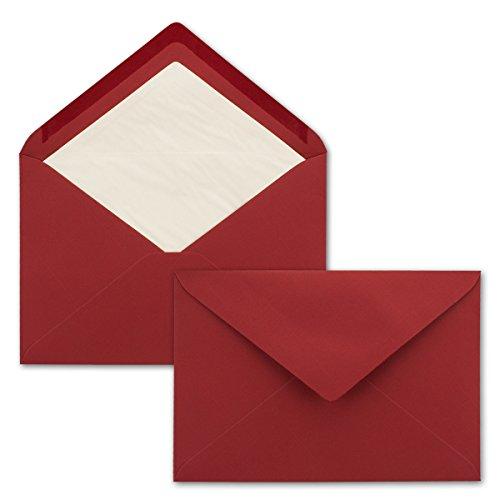 Sobres C5 Neuser de color forrados, color rojo oscuro 100 Stück
