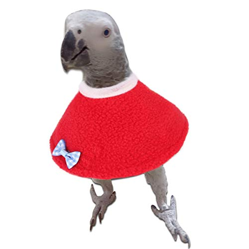 Eurobuy Collares de Aves Conos de Recuperación de Loros Collar de Cuello Anti-Mordida para Pájaros Loros Collar de Recuperación Ajustable para Periquito de Pecho Rojo Escudo Protector de
