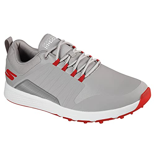 Hommes Elite 4 skechers-Victoire Chaussures de golf - Gris Rouge - UK 7.5