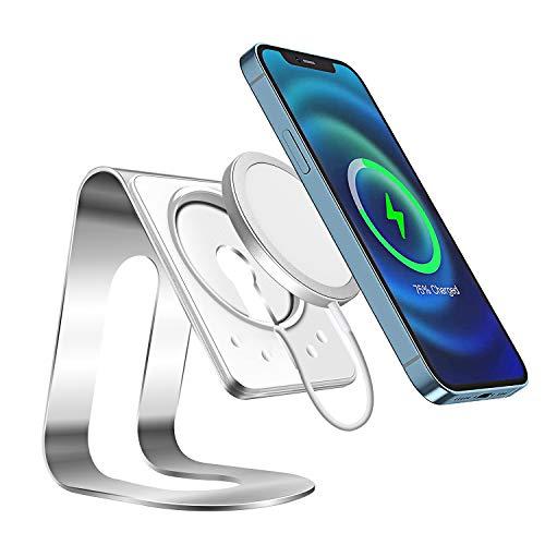 AICase Compatible con Cargador MagSafe Soporte de Aluminio,Magsafe Holder Magsafe Stand Soporte de Carga inalámbrica para iPhone 12/iPhone 12 Pro/iPhone 12 Pro MAX/iPhone 12 Mini