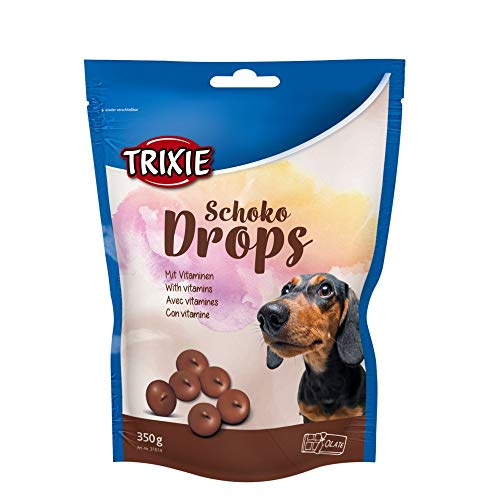TRIXIE Schoko Drops, Chocolate, Vitaminados, 350 g, Perro