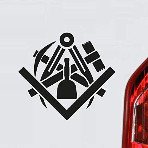 myrockshirt Steinmetz Bildhauer Zunftzeichen Wappen Symbol Handwerk ca. 20 cm Aufkleber,Autoaufkleber,Sticker,Decal,Wandtattoo, aus Hochleistungsfolie,UV&waschanlagenfest,Lack,Scheibe,Wandtattoo,