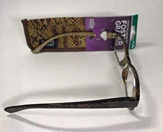 Foster Grant Veronica Brown w/Case Reading Glasses+1.75 Each