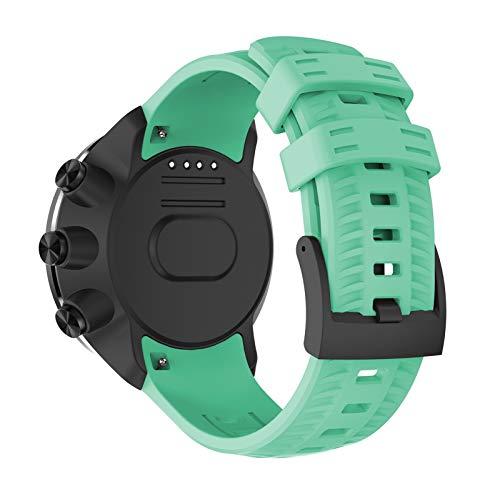 XUEMEI Correa De Reloj De Reloj para Suunto Spartan Sport/Sport Muñequera HR/para Suunto 9 9 Baro Reloj De Reemplazo Pulsera Deportiva (Color : Mint Green)