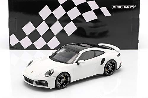 Minichamps Porsche 911 (992) Turbo S Baujahr 2020 weiß 1:18