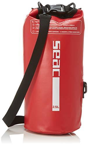 SEAC Dry Bag, Sacca Stagna Impermeabile per Subacquea e Nautica Unisex Adulto, Rosso, 2.5 L
