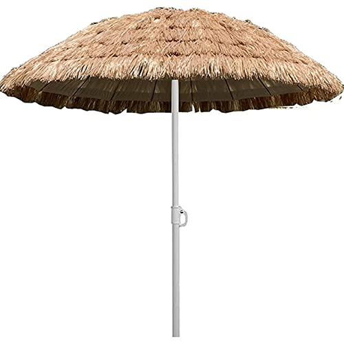 CHLDDHC Sombrilla Hawaiana, sombrilla de Paja, sombrilla de Playa Ajustable, usada en jardín, Patio, al Aire Libre, 1.8M