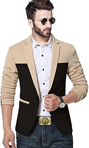 DARBAR IN Men's Slim Fit Single Breasted Blazer.(Size 38) Beige