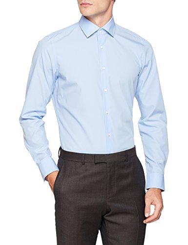 Strellson Premium Herren 11 Santos-C 10000206 Businesshemd, Blau (Bright Blue 439), Kragenweite: 44 cm