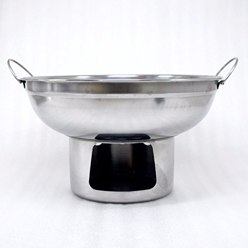 22 cm. HOT POT STAINLESS STEEL WARE SERVING BOWL OF TOMYUM Thai Soup, OTHER SOUP