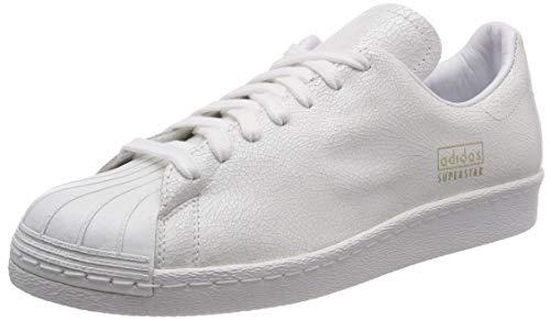 adidas Herren Superstar 80s Clean Gymnastikschuhe, Weiß (FTWR White/FTWR White/Gold Met.), 47 1/3 EU