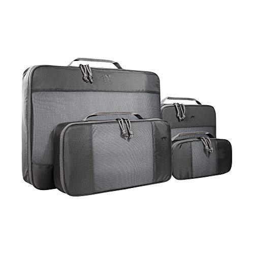 Tasmanian Tiger TT Mesh Pocket Set XL 4-teiliges Pack-System, Packing Cubes für Koffer, Rucksack oder Reisetasche; Pack-Taschen Set, 2l + 5l + 6l + 20l Volumen, Titan Grey