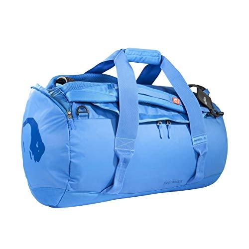 Tatonka Barrel M Reisetasche - 65 Liter - wasserfeste Tasche aus LKW-Plane mit Rucksackfunktion und großer Reißverschluss-Öffnung - Rucksacktasche - unisex - blau