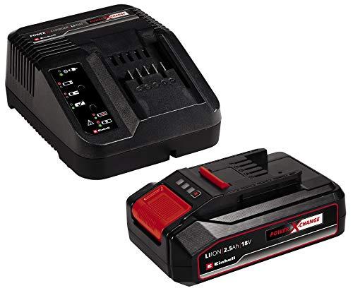 Einhell 18V 2,5Ah PXC Starter Kit (Akku & Ladegerät, 18 V, Max. Power 720 W, universell für alle Power X-Change-Geräte, prozessgesteuertes Batteriemanagementsystem ABS, 3-stufige LED-Anzeige)