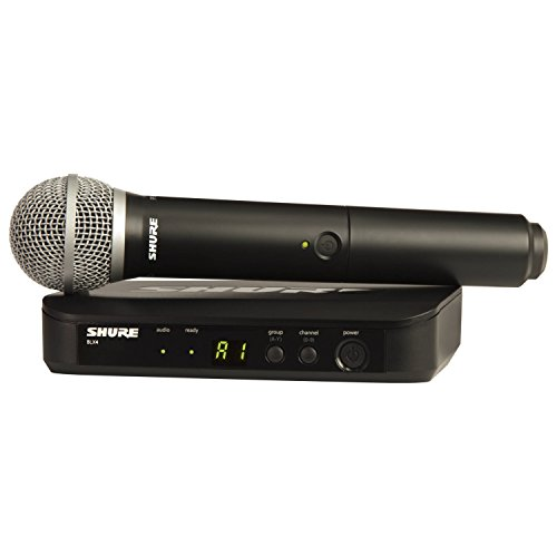 Shure BLX24/PG58 H10 FREQ PG58 Vocal Wireless System w/BLX4 Receiver and HH PG58 Mic