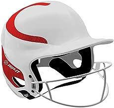 RIP-IT Vision Classic Home Softball Batting Helmet (WhiteScarlet, Medium/Large))