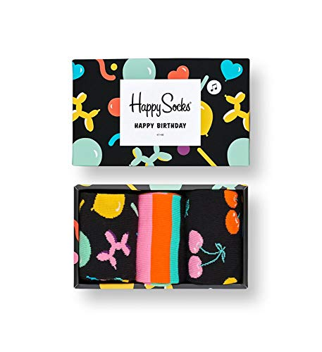 Happy Socks Gemischt farbenfrohe Geschenkbox an Baumwollsocken für Männer und Frauen,Balloon Animal,36-40