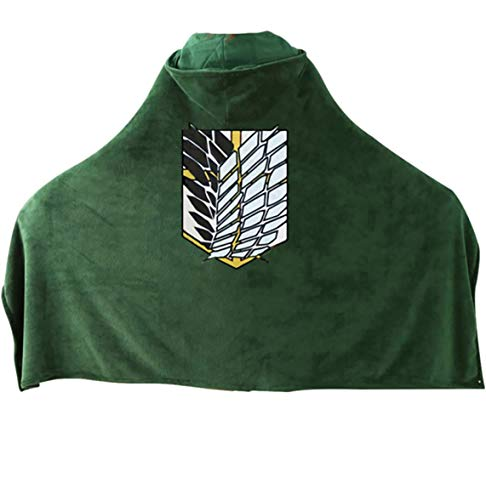 アジアンダウニー attack on titan flag Shingeki No Kyojin cloak cape Angriff auf den Titan blanket - 2414