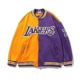 UIQB Hoodrakers No. 24 Otoño Invierno Nuevo Lakers Kobe Baseball Jersey Mamba No. 8 Chaqueta Basketball Chaqueta de Lana Suelta 24-XXL